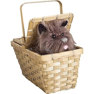 Wizard Of Oz Toto In Basket Deluxe - Brown