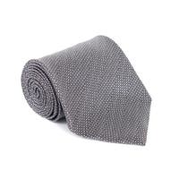 Tom Ford Mens Grey Wool Micro Square 4 Inch Wide Neck Tie RTL $250 - One Size