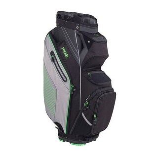 New Ping 2018 Pioneer Golf Cart Bag (Black / Silver / Green) - black / silver / green