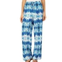 Calvin Klein Blue Adritc Womens Size Small S Tie-Dye Wide Leg Pants