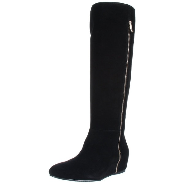 BCBGeneration Womens Isanna Suede Closed Toe Knee High Fashion Boots