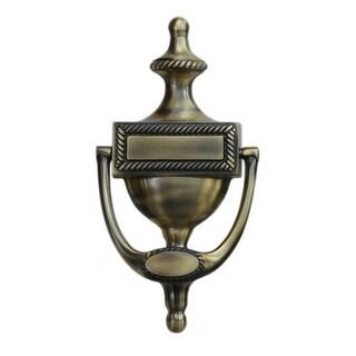 "Deltana DKR75 7-3/4"" x 3-7/8"" Solid Brass Victorian Rope Door Knocker"