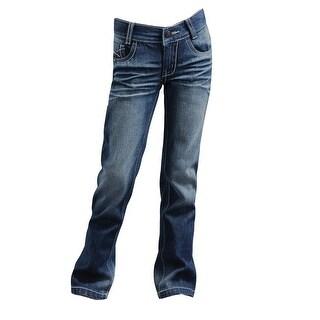 Cruel Girl Western Denim Jeans Girl Lyndie Slim Medium Wash CB22461001