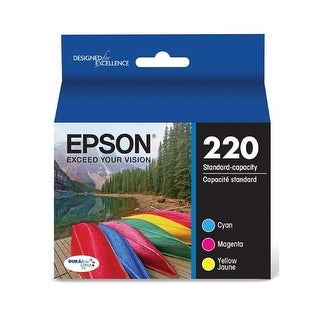 Epson T220520 Durabrite Ultra 220 Cartridge Multi-Pack - Cyan, Yellow, Magenta
