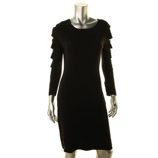 Calvin Klein Womens Cutout Sleeve Fitted Party Dress - S