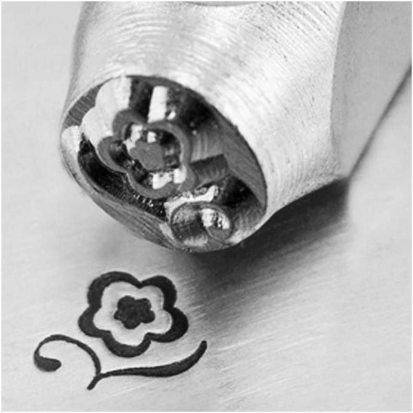 ImpressArt Metal Punch Stamp 'Blossom' 6mm (1/4 Inch) Design - 1 Piece