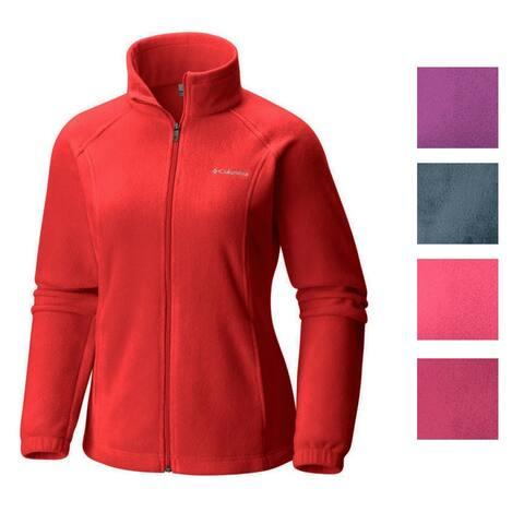 Columbia Women's Solid Mock Neck Sawyer Winter Fleece Full Zip Jacket