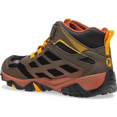 Merrell Kids' Moab FST Mid a/C WTRPF Hiking Boot - 7