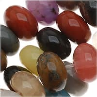 Gemstone Bead Lot Mix 8mm Rondelle Beads/15 Inch Strand