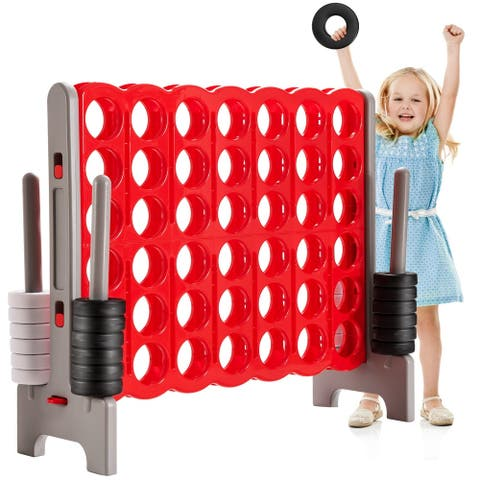 Jumbo 4-to-Score 4 in A Row Giant Game Set for Outdoor Indoor - Red