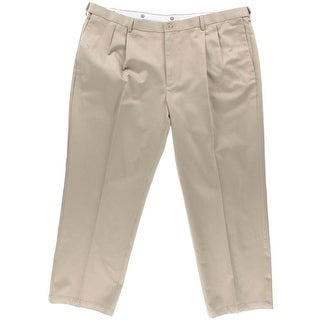 Haggar Mens Big & Tall Twill Classic Fit Khaki Pants - 58/30