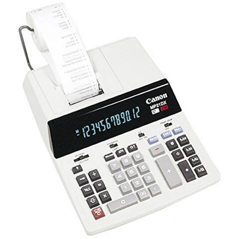 Canon MP21DX 12-Digit Ribbon Printing Calculator Printing Calculator