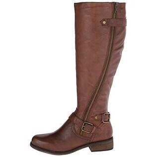 Wide-Calf Riding Boot