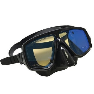 Scuba Choice Silicone Dive Mask With Blue Mirror Coated Lense
