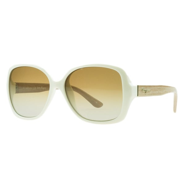 Salvatore Ferragamo SF715/S 107 Ivory Square Sunglasses - 56-15-135
