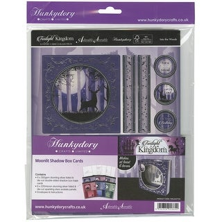 Hunkydory Twilight Kingdom A4 Shadow Box Card Kit-Moonlit, Makes 6