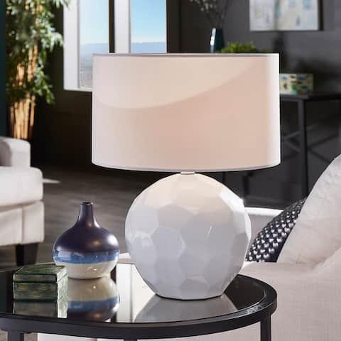 Hailey Modern Drum Shade Table Lamp by iNSPIRE Q Modern