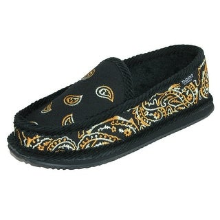 Trooper America Tiger Paisley Bandana Print Slip On House Shoe Slippers