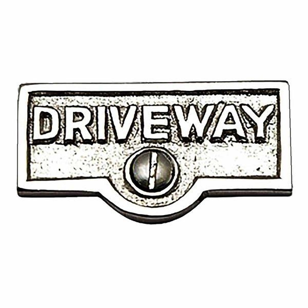 Switch Plate Tags DRIVEWAY Name Signs Labels Chrome Brass | Renovator's Supply