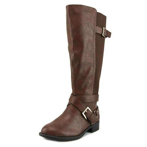 Thalia Sodi Womens Vada Leather Almond Toe Mid-Calf Fashion Boots