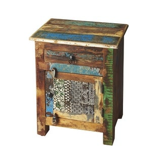 Distressed Reclaimed Wooden Rectangular Accent Chest in Artifact Finish - Assorted