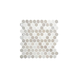"Daltile UP1HEXMSP  Uptown Glass - 1"" x 1"" Hexagon Mosaic Wall Tile - Smooth Glass Visual"