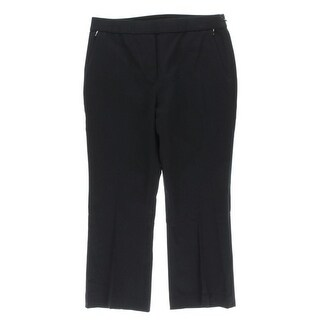Elie Tahari Womens Kate Cropped Pants Solid Stretch