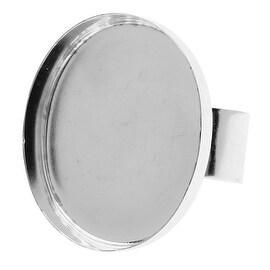 Nunn Design Deep Bezel Ring, Oval 23x30mm, 1 Ring, Bright Silver