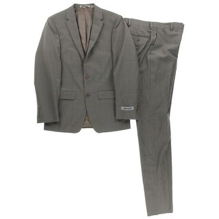 DKNY Mens Wool Double Vent Two-Button Suit - 36R