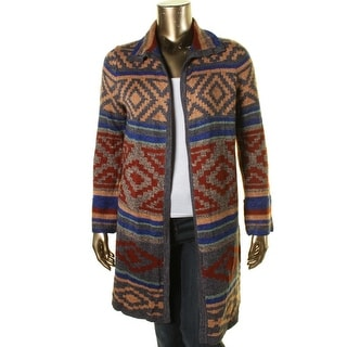 Cable & Gauge Womens Open Front Shawl Collar Cardigan Sweater