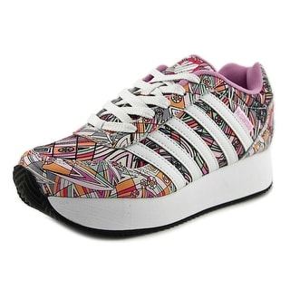 K-Swiss New Haven Platform Mod Round Toe Synthetic Sneakers