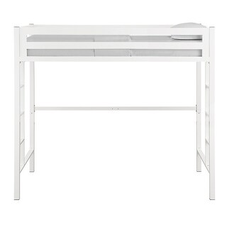 Offex Kids Premium Deluxe Solid Steel Twin Loft Bed - White