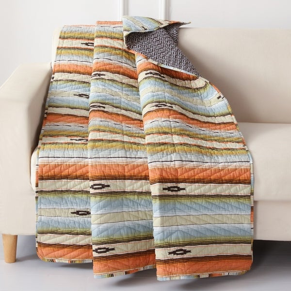 Barefoot Bungalow Painted Desert Rose Quilted Throw Blanket. Opens flyout.
