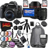 Canon EOS Rebel T6i DSLR Camera with 18-55mm Lens (Intl Model) and Canon EF 14mm f/2.8L II USM Lens