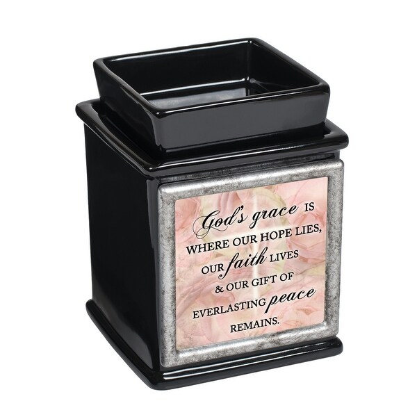 "5"" Black and Pink God Quotes Candle Warmer - N/A"