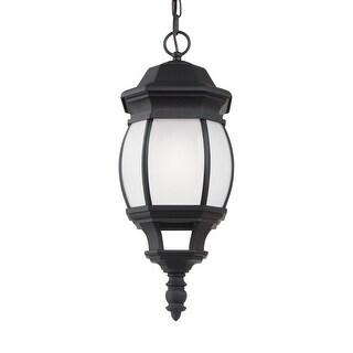 Sea Gull Lighting 69400BLE-12 Wynfield 1-Light Outdoor Pendant Black Finish - Black Finish