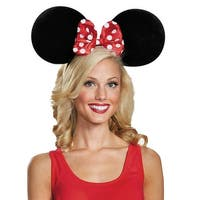 Minnie Mouse Adult Costume Ears Oversize Costume Accessory - Black