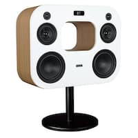 """Fluance Fi70W Three-Way Wireless High Fidelity Music System with Powerful Amplifier & Dual 8"""" Subwoofers (Lucky Bamboo)"""