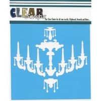 """Chandelier - Clear Scraps Stencils 6""""X6"""""""