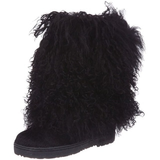 "Bearpaw Boots Womens Comfortable Boetis Curly Lamb Fur 11"" 1294W"