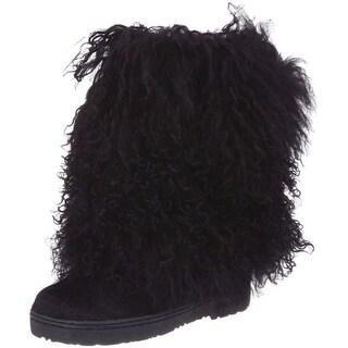 "Bearpaw Boots Womens Comfortable Boetis Curly Lamb Fur 11"" 1294W (Option: 11)"
