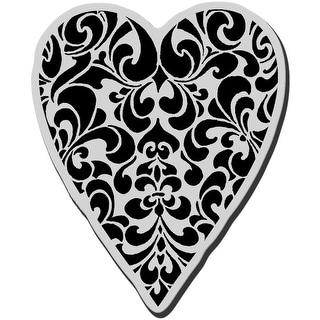 "Stampendous Cling Stamp 3.5""X4"" -Ornate Heart"