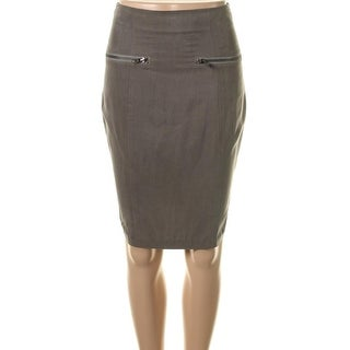 Catherine Malandrino Womens Silk Blend Knee-Length Pencil Skirt - 4