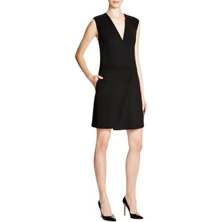 DKNY Womens Cocktail Dress Wool Blend Asymmetrical Wrap