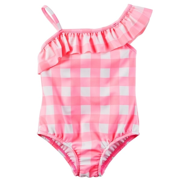 deb9c198d3 Shop Carter's Little Girls' Gingham Swimsuit, Pink, 2-Toddler - 2T - Free  Shipping On Orders Over $45 - Overstock - 18304240