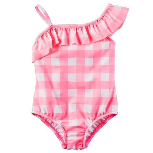 b3d9ca968 Shop Carter's Little Girls' Gingham Swimsuit, Pink, 5-Toddler - 5T - Free  Shipping On Orders Over $45 - Overstock - 19574589