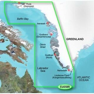 """""""Garmin Bluechart g2 Vision - VEU058R (microSD/SD Card) Garmin Bluechart g2 Vision - VEU058R - Greenland West"""""""