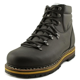 Hanwag Grunten Men  Round Toe Leather Black Hiking Boot