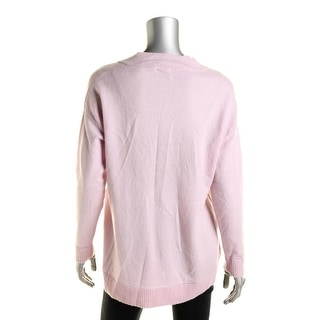 Vince Womens Pullover Sweater Cashmere V-Neck