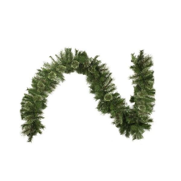 "9' x 10"" Mixed Cashmere Pine Artificial Christmas Garland - Unlit - green"